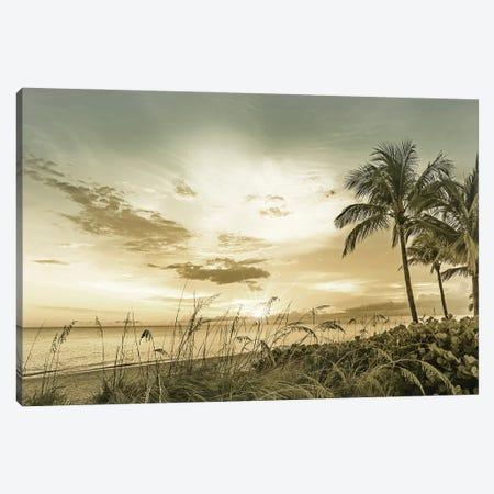 Bonita Beach Sunset Canvas Print #MEV581} by Melanie Viola Art Print