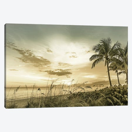 Bonita Beach Sunset Canvas Print #MEV581} by Melanie Viola Art Print