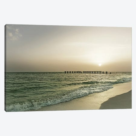 Vintage Gasparilla Island Sunset Canvas Print #MEV585} by Melanie Viola Canvas Artwork