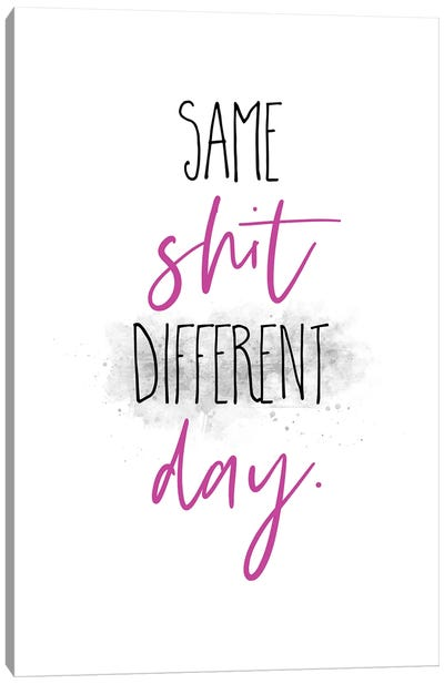 Same Shit Different Day II Canvas Art Print