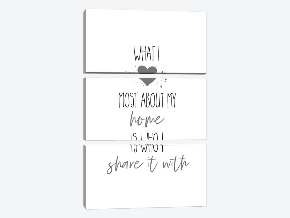 What I Love Most About My Home I by Melanie Viola 3-piece Canvas Art