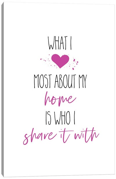 What I Love Most About My Home II Canvas Art Print