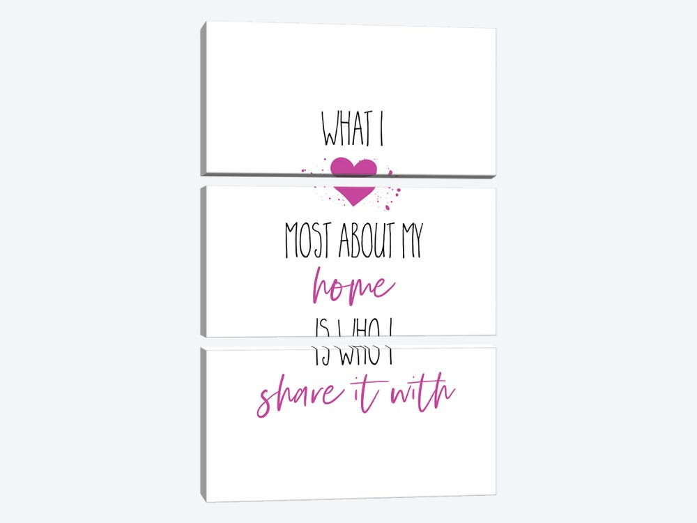 What I Love Most About My Home II by Melanie Viola 3-piece Canvas Art Print