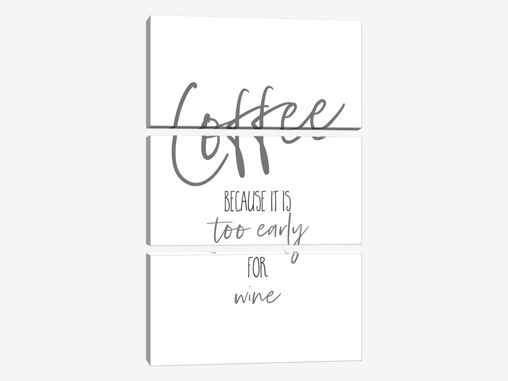 Coffee - Too Early For Wine I by Melanie Viola 3-piece Canvas Art