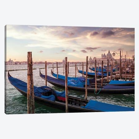 Venice Gondolas & Santa Maria Della Salute Canvas Print #MEV597} by Melanie Viola Art Print