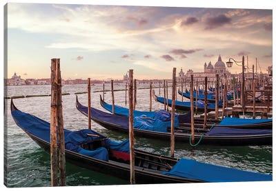 Venice Gondolas & Santa Maria Della Salute Canvas Art Print