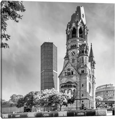 Berlin Kaiser Wilhelm Memorial Church Canvas Art Print