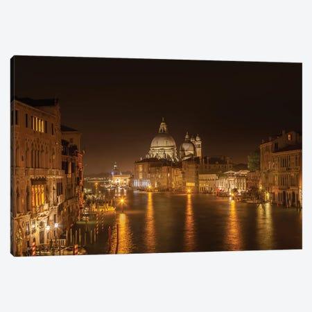 Venice Canal Grande With Santa Maria Della Salute Canvas Print #MEV600} by Melanie Viola Canvas Artwork