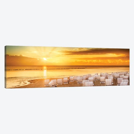 Baltic Sea Sunrise | Panoramic View Canvas Print #MEV607} by Melanie Viola Canvas Art Print
