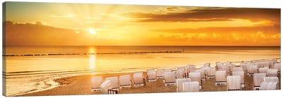Baltic Sea Sunrise | Panoramic View Canvas Art Print