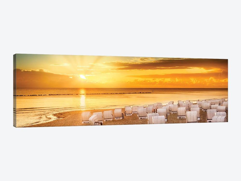 Baltic Sea Sunrise | Panoramic View by Melanie Viola 1-piece Art Print