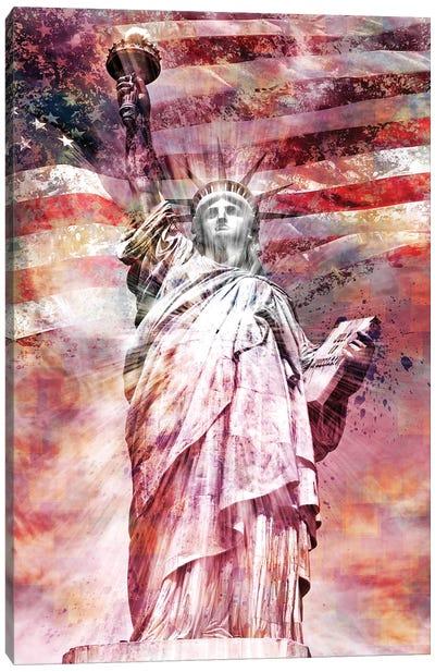 Modern Art Statue Of Liberty Canvas Art Print