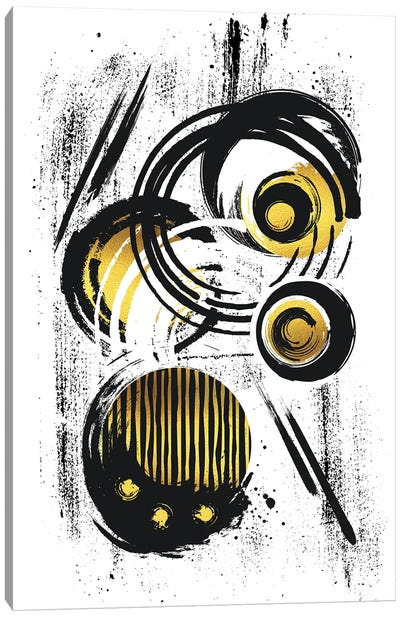 Abstract Painting XXX | Gold Canvas Art Print