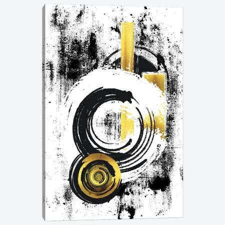 Abstract Painting XXXIII   Gold Canvas Print #MEV617} by Melanie Viola Canvas Artwork