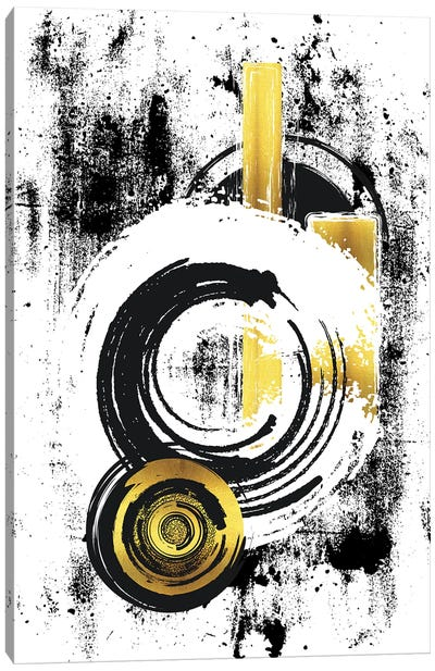 Abstract Painting XXXIII | Gold Canvas Art Print