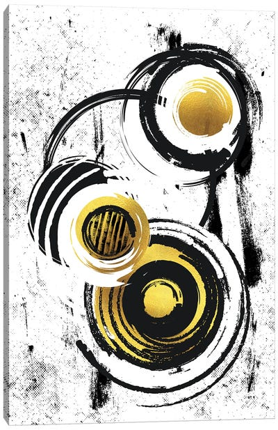 Abstract Painting XXXIV | Gold Canvas Art Print