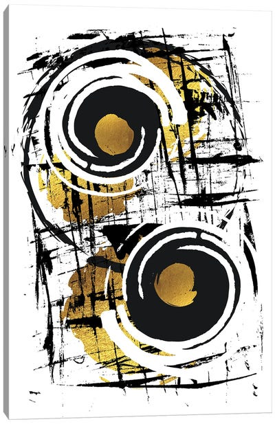 Abstract Painting XXXV | Gold Canvas Art Print