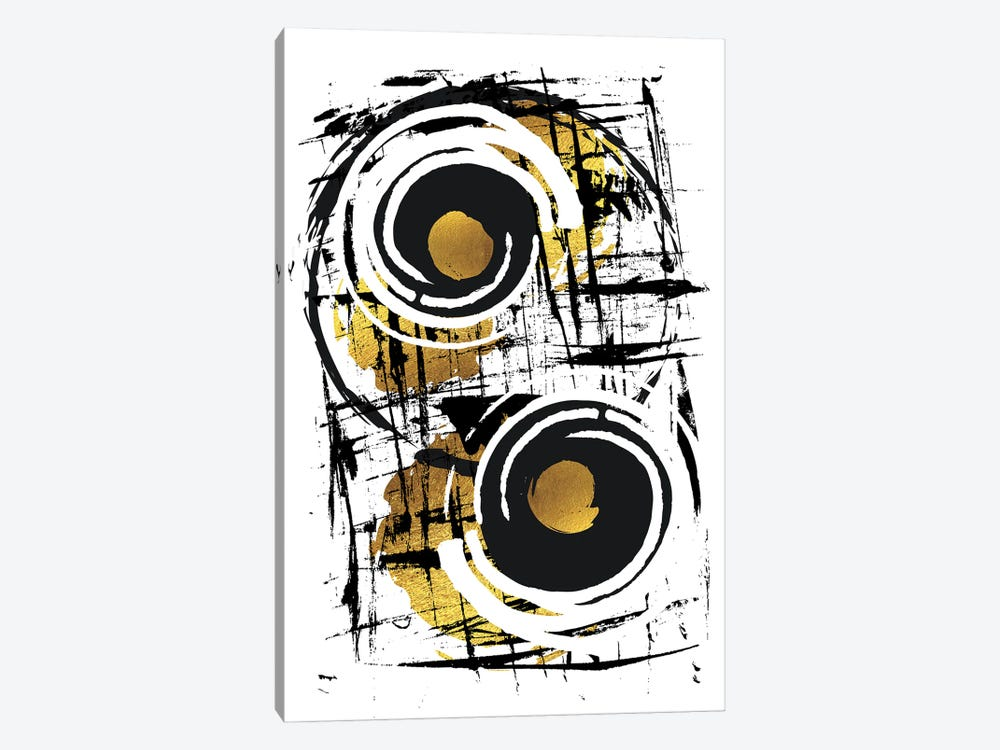 Abstract Painting XXXV | Gold 1-piece Canvas Artwork