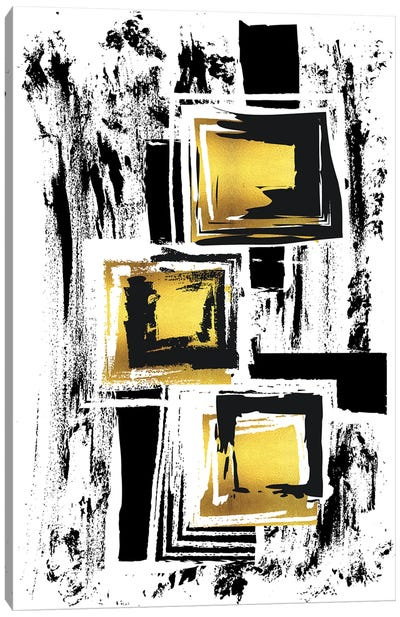 Abstract Painting XXXVI | Gold Canvas Art Print