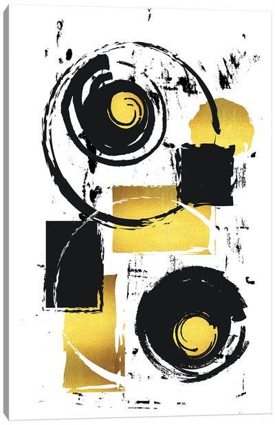 Abstract Painting XXXVII | Gold Canvas Art Print