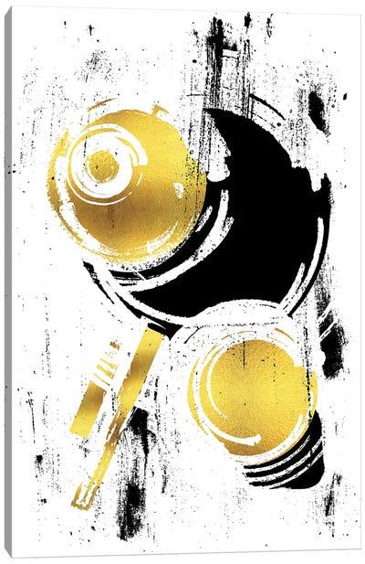 Abstract Painting XXXVIII | Gold Canvas Art Print