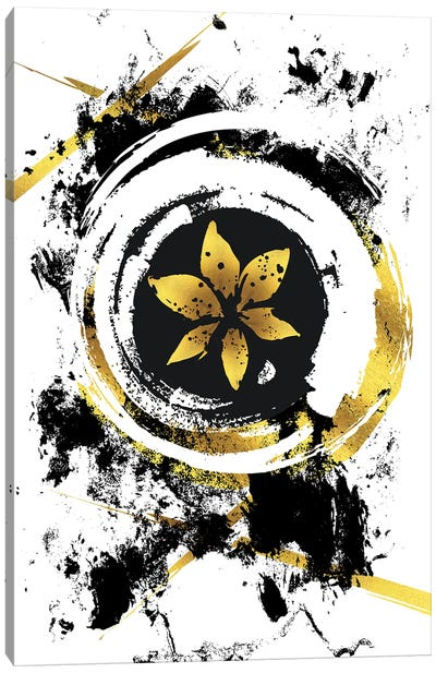 Abstract Painting XXXIX | Gold Canvas Art Print