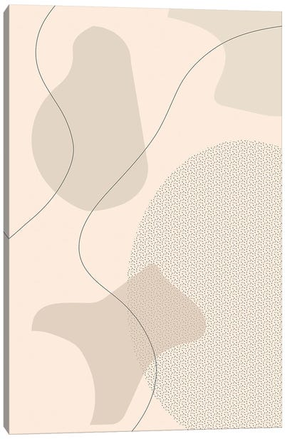 Mid-Century Modern I | Brown Canvas Art Print