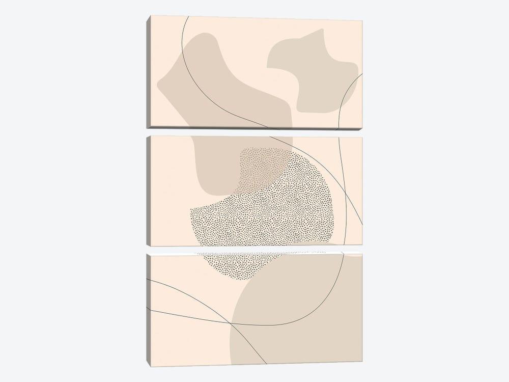 Mid-Century Modern II | Brown by Melanie Viola 3-piece Canvas Art Print