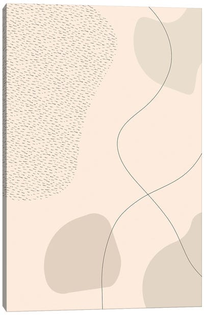 Mid-Century Modern III | Brown Canvas Art Print