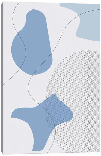 Mid-Century Modern I | Blue Canvas Art Print