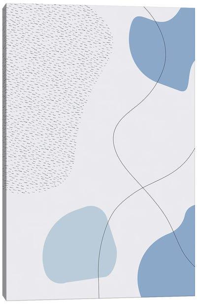 Mid-Century Modern III | Blue Canvas Art Print