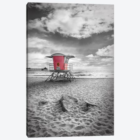 San Diego Imperial Beach | Colorkey Canvas Print #MEV637} by Melanie Viola Canvas Wall Art