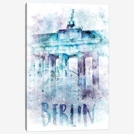 Modern Berlin Brandenburg Gate  Canvas Print #MEV63} by Melanie Viola Canvas Artwork