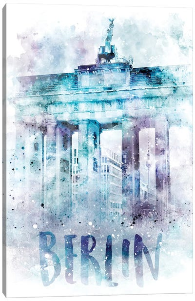 Modern Berlin Brandenburg Gate  Canvas Art Print