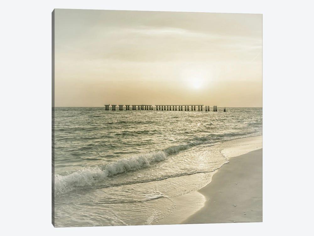 Lovely Vintage Gasparilla Island Sunset by Melanie Viola 1-piece Canvas Artwork