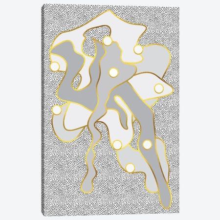 Golden Eternal Shapes Canvas Print #MEV652} by Melanie Viola Art Print