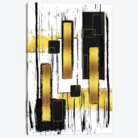 Abstract Painting L | Gold Canvas Print #MEV653} by Melanie Viola Art Print
