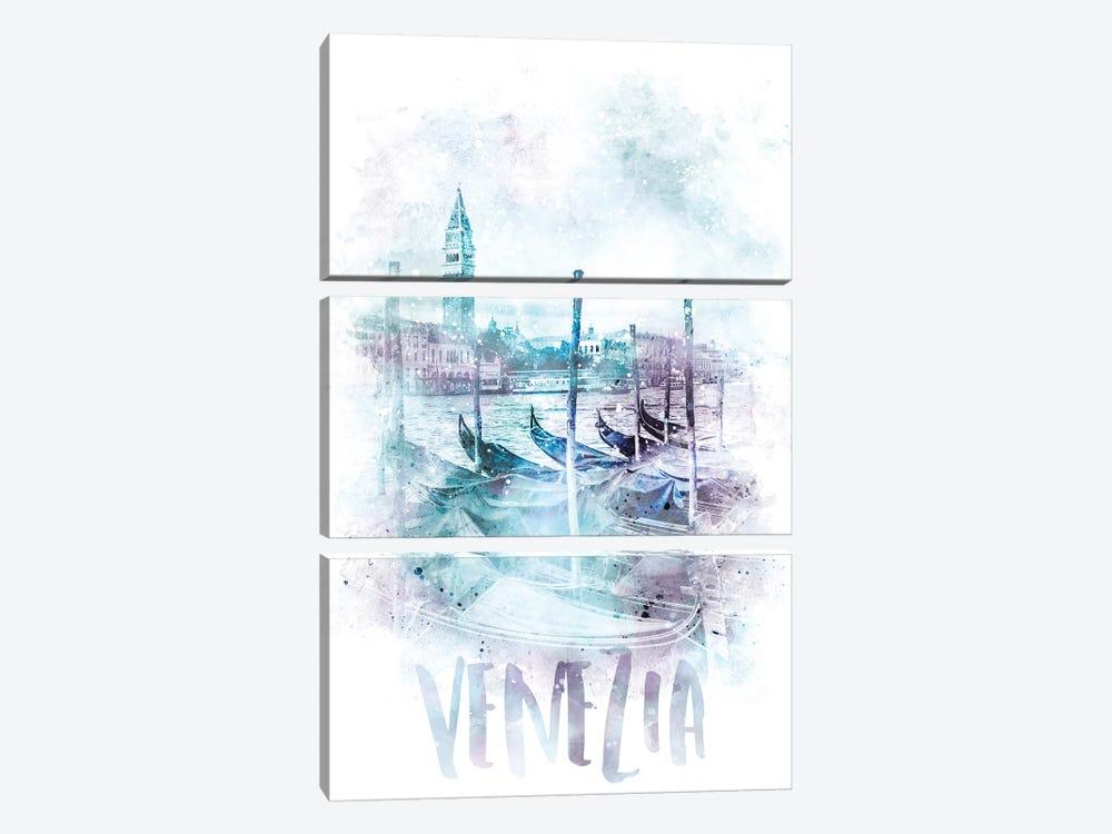 Modern Canal Grande  by Melanie Viola 3-piece Art Print