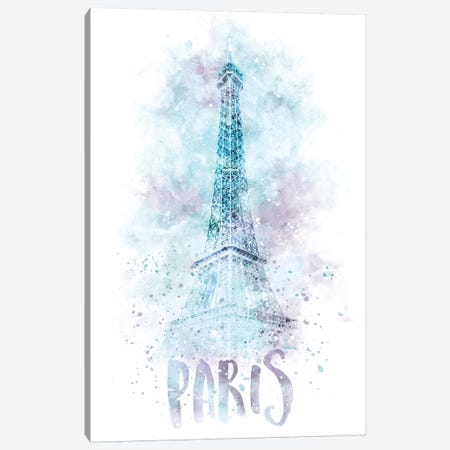 Modern Eiffel Tower  Canvas Print #MEV66} by Melanie Viola Art Print