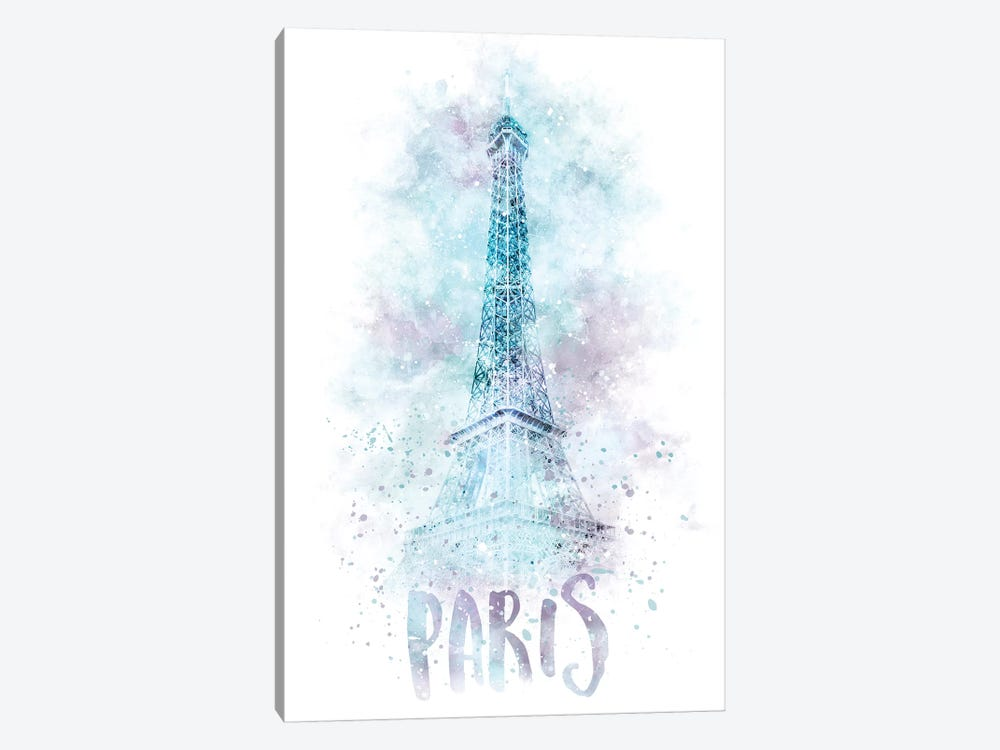 Modern Eiffel Tower  by Melanie Viola 1-piece Canvas Artwork