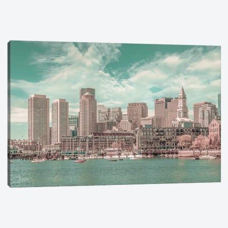 Boston Skyline | Urban Vintage Style Canvas Print #MEV670} by Melanie Viola Canvas Print