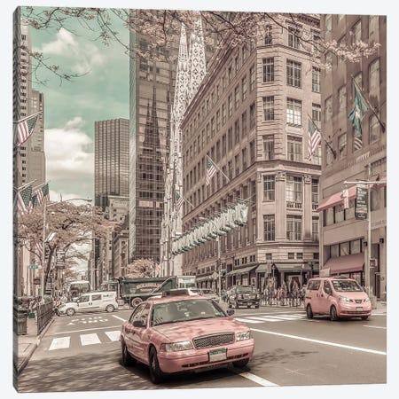 Manhattan 5Th Avenue | Urban Vintage Style Canvas Print #MEV671} by Melanie Viola Canvas Print