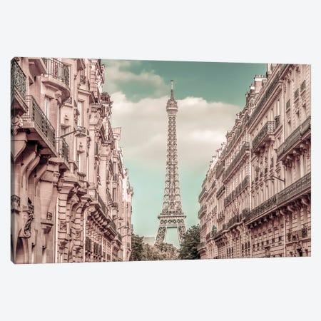 Parisian Flair   Urban Vintage Style Canvas Print #MEV673} by Melanie Viola Canvas Art Print