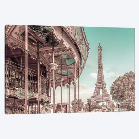 Typical Paris   Urban Vintage Style Canvas Print #MEV675} by Melanie Viola Canvas Art