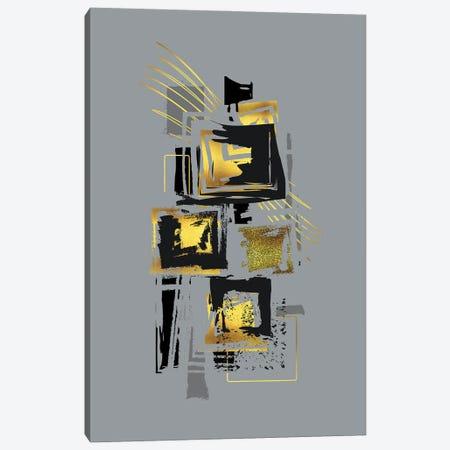 Dynamic Art V Gold - Punk Is Not Dead Canvas Print #MEV683} by Melanie Viola Canvas Artwork