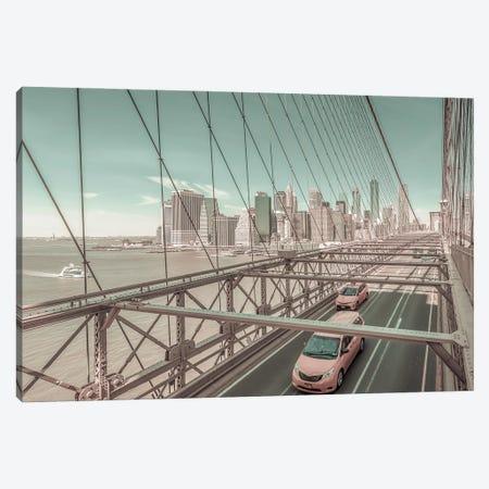 Brooklyn Bridge View | Urban Vintage Style Canvas Print #MEV693} by Melanie Viola Canvas Art Print