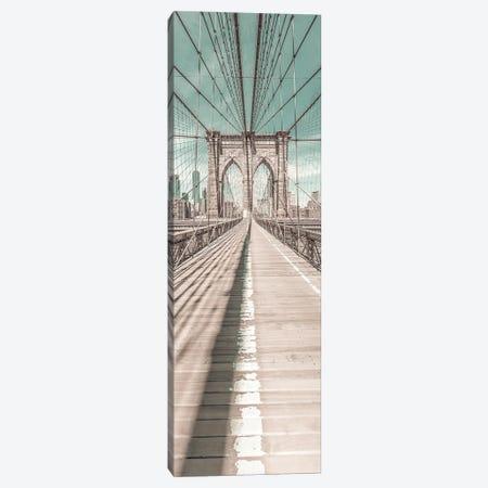 Nyc Brooklyn Bridge Panorama | Urban Vintage Style Canvas Print #MEV694} by Melanie Viola Canvas Artwork
