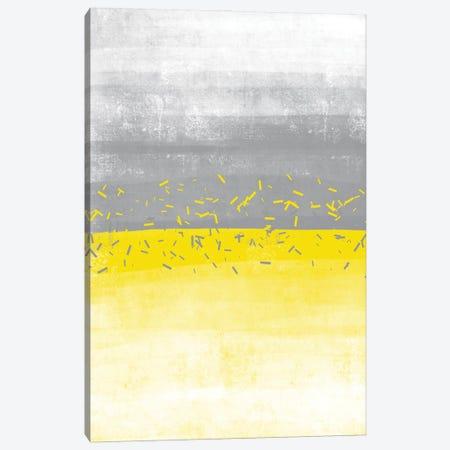 Abstract Painting No. 52   Illuminating Yellow & Ultimate Grey Canvas Print #MEV697} by Melanie Viola Canvas Art