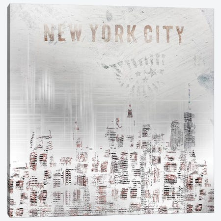 Modern New York City Skylines Canvas Print #MEV69} by Melanie Viola Canvas Wall Art