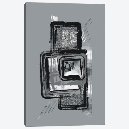 Dynamic Art No. 2 Silver - Urban Patterns Canvas Print #MEV713} by Melanie Viola Canvas Art